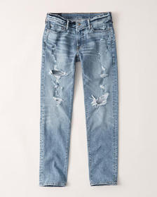 Ripped Skinny Jeans, LIGHT MEDIUM RIPPED WASH