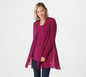Every Day by Susan Graver Liquid Knit & Sheer Chif