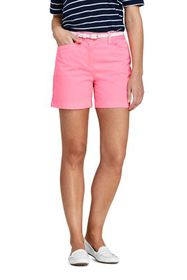 """Lands End Women's Petite Mid Rise 5"""" Chino Shorts"""