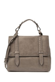 Frye Reed Leather Flap Satchel