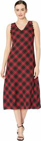 Vince Camuto Sleeveless Elegant Tartan Maxi Dress