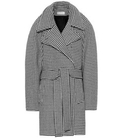 Balenciaga Houndstooth wool and cashmere coat