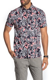 Ted Baker London Floral Short Sleeve Slim Fit Hawa