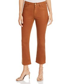 FRAME - Le Cropped Mini Boot Jeans in Caramel Coat