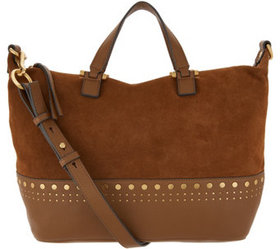 """As Is"" Vince Camuto Suede Satchel - Julie - A3758"