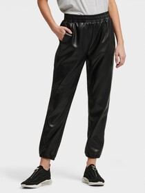 Donna Karan FAUX LEATHER JOGGER