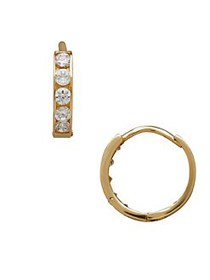 Lord & Taylor Kid's Cubic Zirconia and 14K Yellow