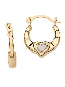 Lord & Taylor Kid's 14K Yellow and White Gold Hear