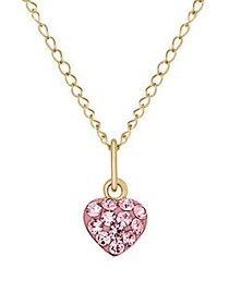 Lord & Taylor Kid's Rose Crystal and 14K Yellow He
