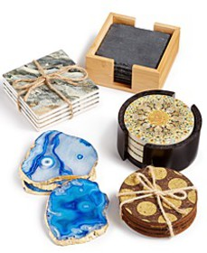 Mixed Material Coaster Set Collection