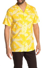 Onia Hawaiian Print Short Sleeve Trim Fit Shirt