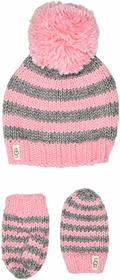 UGG Kids Chunky Stripe Knit Hat and Mitten Set (To