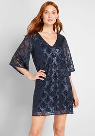 VIP List Sequin Mini Dress Navy