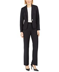 Pinstripe One-Button Pantsuit