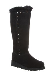 BEARPAW Dorothy Stud Suede Tall Boot