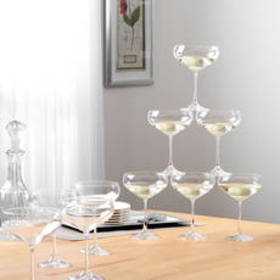 Godinger Set of 12 Meridian Coupe Glasses