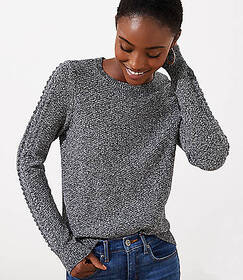 Marled Cable Sleeve Sweater