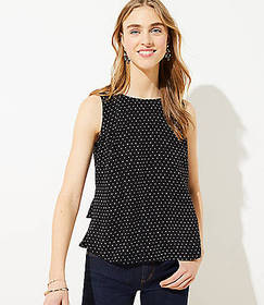 Dotted Tiered Button Back Shell