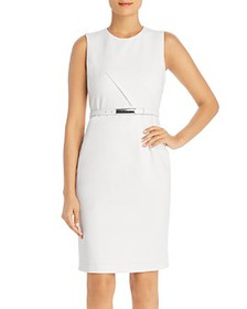 Elie Tahari - Azra Sleeveless Belted Sheath Dress