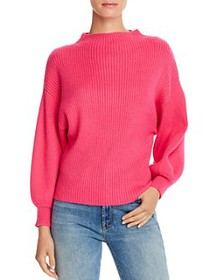 Line & Dot - Funnel-Neck Ribbed Sweater - 100% Exc