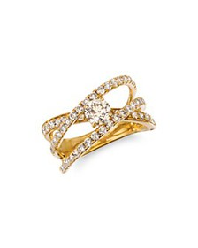 Bloomingdale's - Champagne Diamond Solitaire Cross