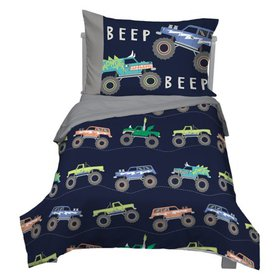 4 Piece Carters Monster Truck Toddler Comforter Se