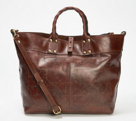 """As Is"" Patricia Nash Leather Crossbody Tote- Emil"