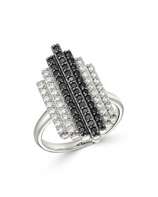 Bloomingdale's - Black & White Deco Statement Ring