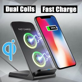 10W Qi Wireless Fast Charger Dock Stand Charging P