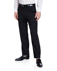 Neiman Marcus Dunhill Wool Straight-Leg Trousers