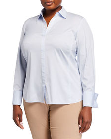 Lafayette 148 New York Plus Size Chiara Collared P