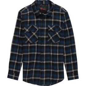Stoic Plaid Twill Long-Sleeve Button-Up Shirt - Me