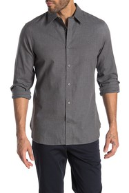 Calvin Klein Solid Regular Fit Flannel Shirt