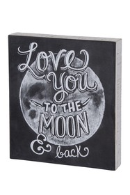 Primitives by Kathy Love You To The Moon Box Sign