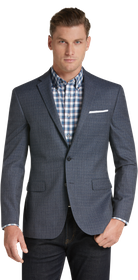 Jos Bank Traveler Collection Slim Fit Mixed Weave