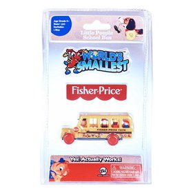 World's Smallest Fisher Price School Bus Collectab