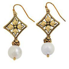 Patricia Nash Cultured Pearl Floret Dangle Earring