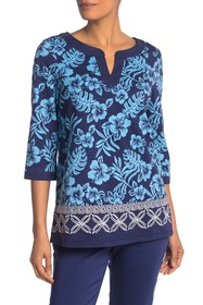 Tommy Bahama Hoani Hibiscus Embroidered Tunic