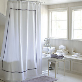 Amelie Embroidered Shower Curtain - Lavender