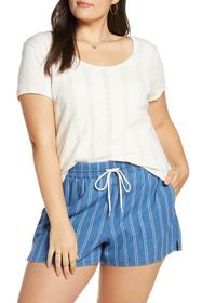 Madewell Pointelle Ribbed Scoop Neck T-Shirt (Regu