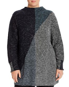 NIC and ZOE Plus - Color-Block Tunic Sweater