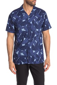 Onia Short Sleeve Vacation Hawaiian Print Shirt