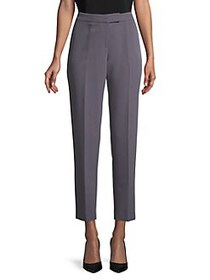 Anne Klein Flat-Front Cropped Pants BLACK FOREST