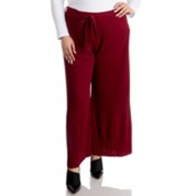 POSH Plus Size Pleated Tie-Waist Wide Leg Pants