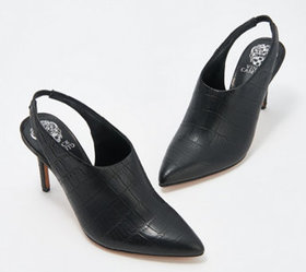 """As Is"" Vince Camuto Leather Sling-Back Pumps - Am"