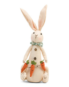 COTTONTAIL LANE 17.5in Fabric Bunny With Carrot