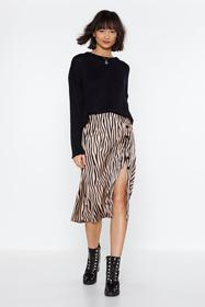 Nasty Gal Nude It's Not All Black and White Zebra