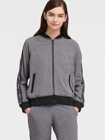 Donna Karan COMMUTER BOMBER WITH LOGO TAPING