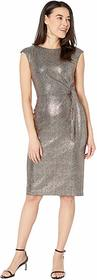 Tahari by ASL Petite Hammered Stretch Metallic Sid