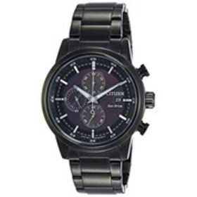 CITIZEN Citizen Eco-Drive Mens Black Stainless Ste